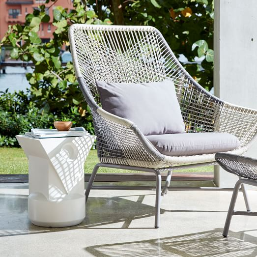 Huron Outdoor Lounge Chair Ottoman, West Elm Outdoor Furniture