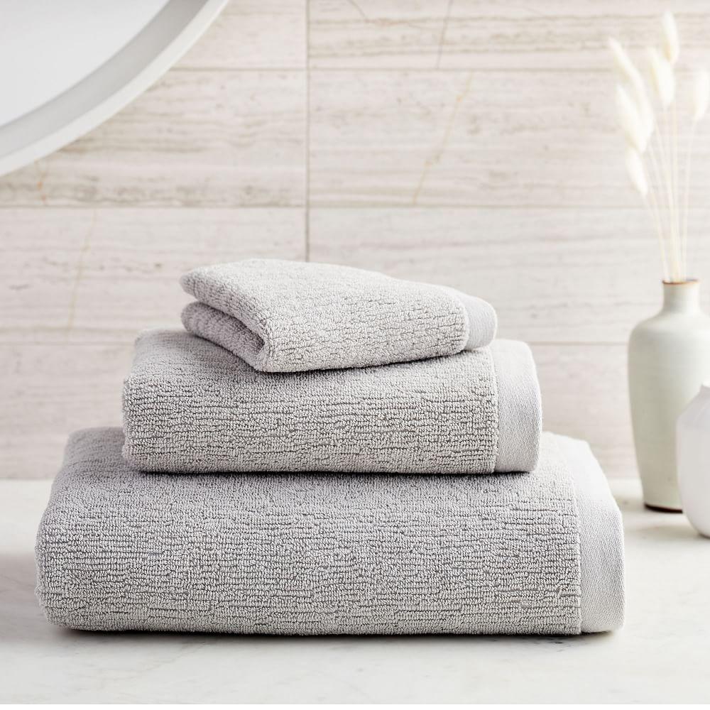 white fair trade pattern Bodie 100/% cotton pink blush or gray sky customizable