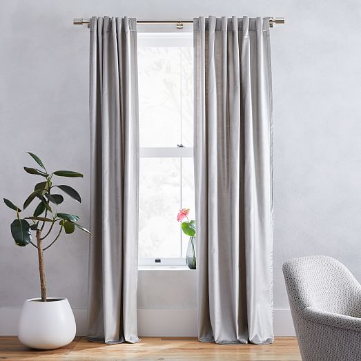 Silver Extendable Curtain or Tapestry Rod