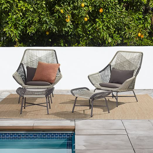 Huron Outdoor Ottoman, West Elm Outdoor Furniture