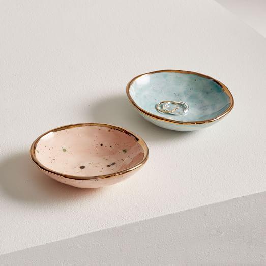 Ceramic Ring Dish  Pottery Trinket Dish  Stoneware Trinket Dish   Hand Crafted Pottery Salt Dish