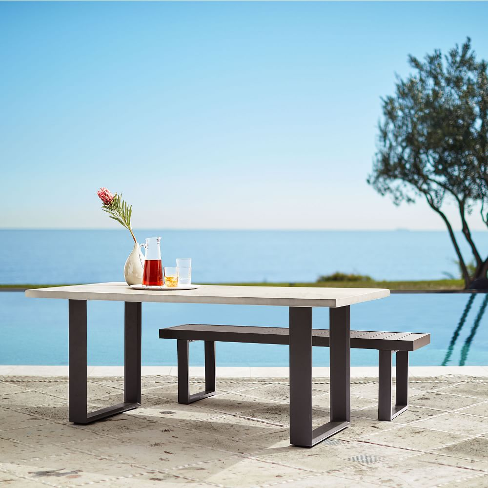 Concrete Outdoor Dining Table Aluminum