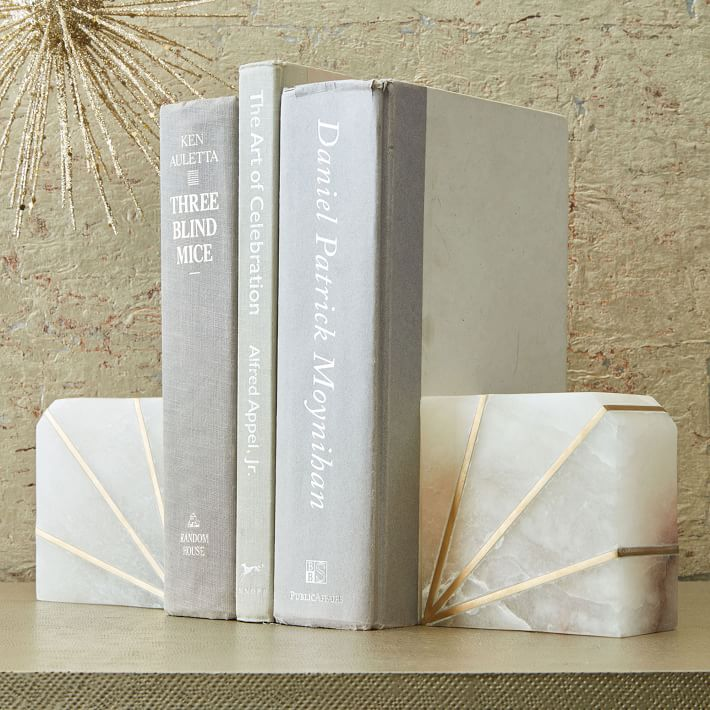 Alabaster stone bookend