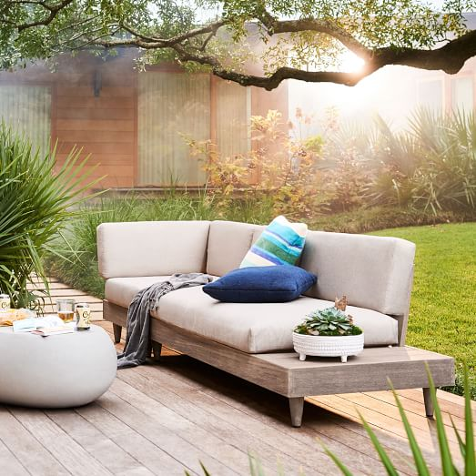 Modular Portside Low Outdoor Sectional, West Elm Outdoor Furniture