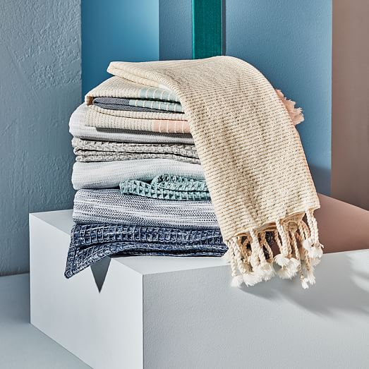 Color Block Hammam Hand Towel