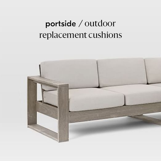 Portside Outdoor Replacement Cushions, Replacement Outdoor Furniture Cushions