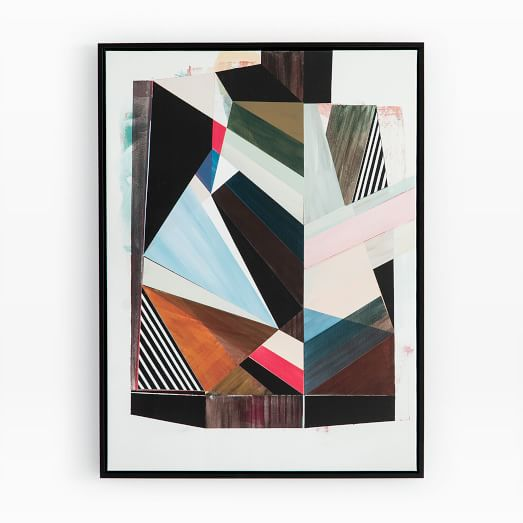 Framed Canvas Print Origami