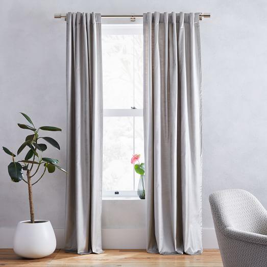 Er Velvet Curtain Platinum, Best Way To Clean Velvet Curtains