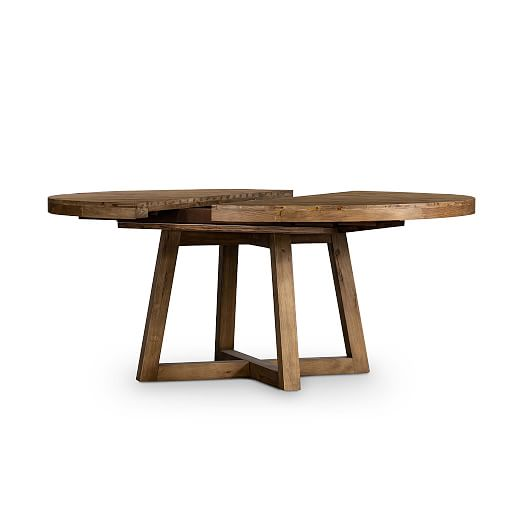 Round Extendable Dining Table Seats 6, Round Expanding Dining Table