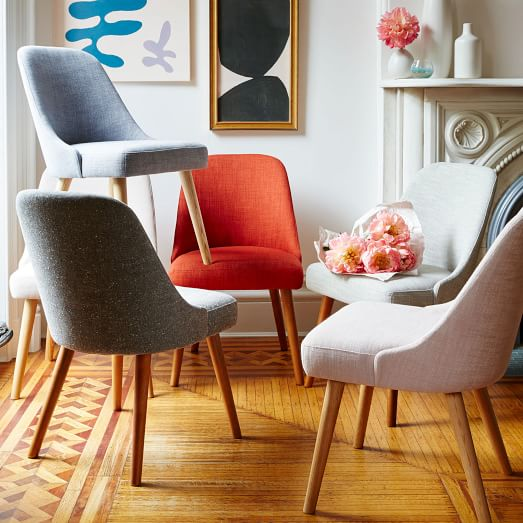 Mid Century Upholstered Dining Chair, Mid Century Modern Dining Room Chairs