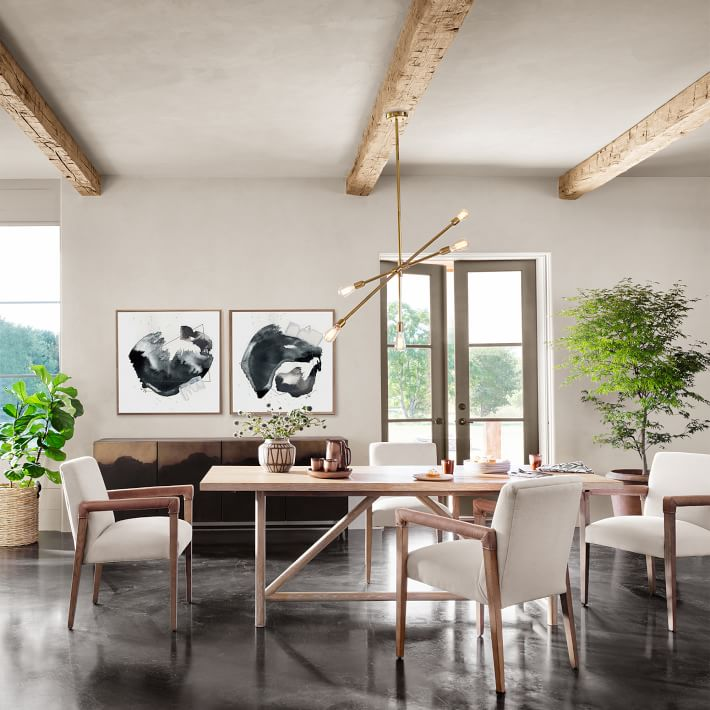 Modern Oak Dining Table, Contemporary Oak Dining Room Sets