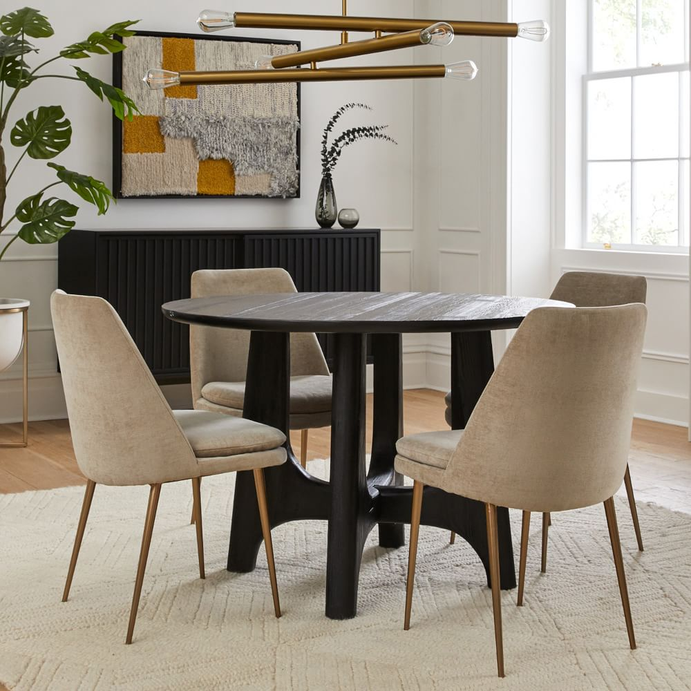Tanner Solid Wood Round Dining Table