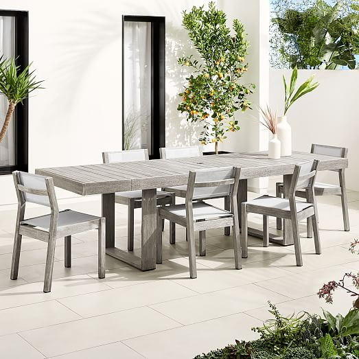 Portside Outdoor Expandable Dining, Outdoor Dining Room Chairs