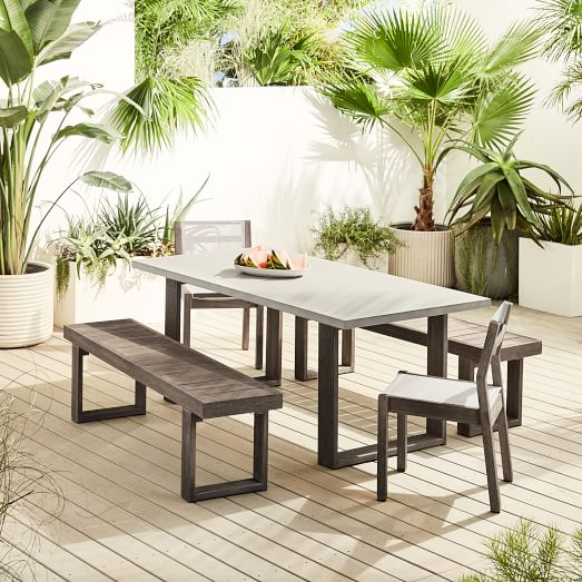 Concrete Outdoor Dining Table Portside, Outdoor Dining Room Chairs