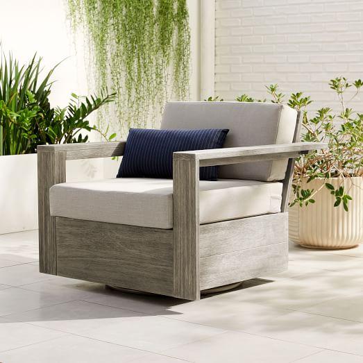 Portside Outdoor Swivel Chair, Patio Furniture Swivel Rocker Recliner