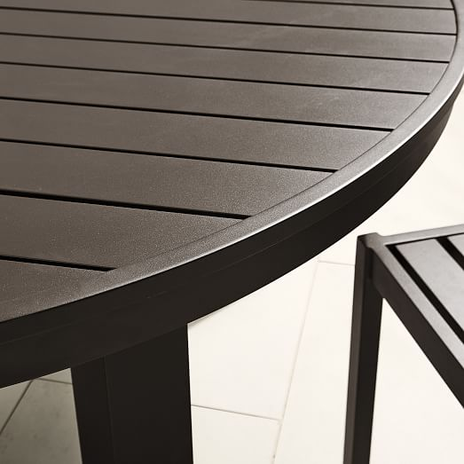 Portside Aluminum Outdoor Round Dining, Outdoor Round Tables
