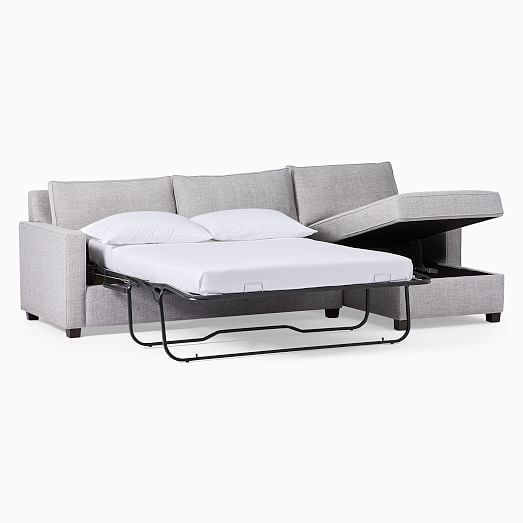 Henry 2 Piece Full Sleeper Sectional W, Grey Sectional Sofa Bed