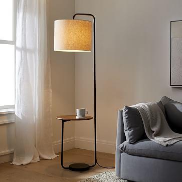 Industrial Shelf Floor Lamp, Floor Lamp With Shelves Ikea