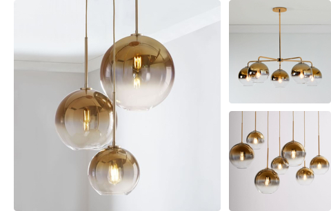 globe multi-lights in ombre