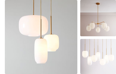 pebble multi lights in milk