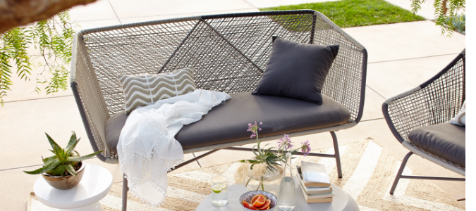 huron woven lounge collection