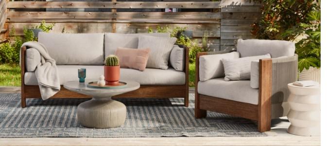 porto wood lounge collection