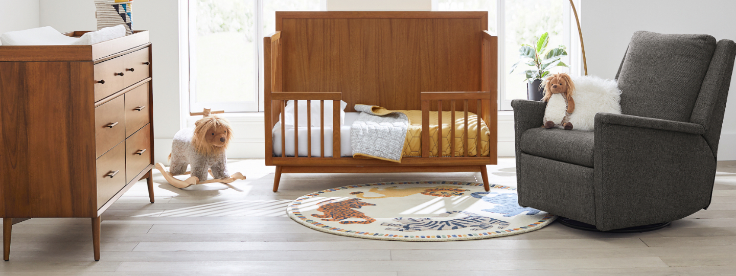 mid-century baby & kids bedroom collection
