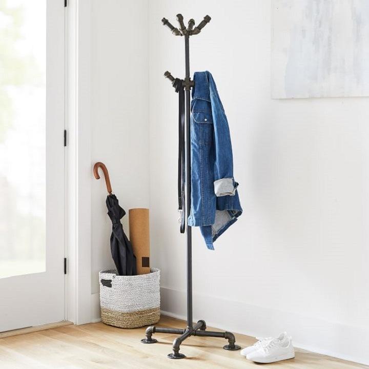 Industrial Coat Rack - Small Entryway Organization