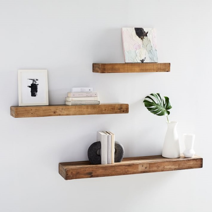 Floating Shelves for Small Entryway