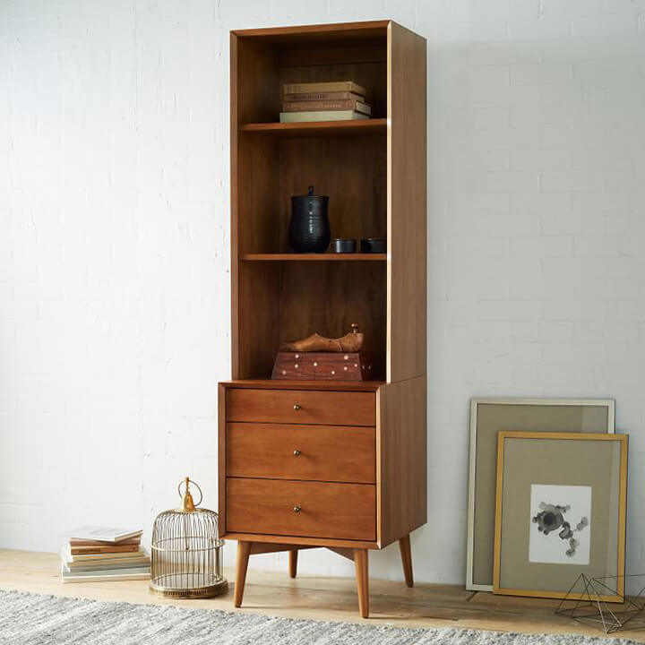 Small Entryway Ideas - Mid-Century Bookcase