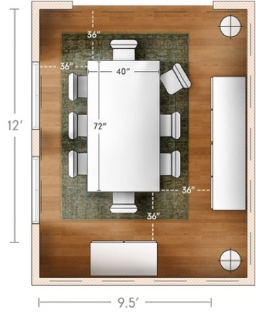 The Right Size Dining Table For Your Space, Dining Room Table Size Guide For Room