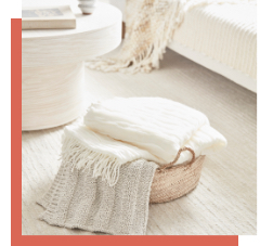 layers of white and cozy textures