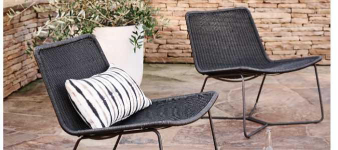 slope wicker lounge collection