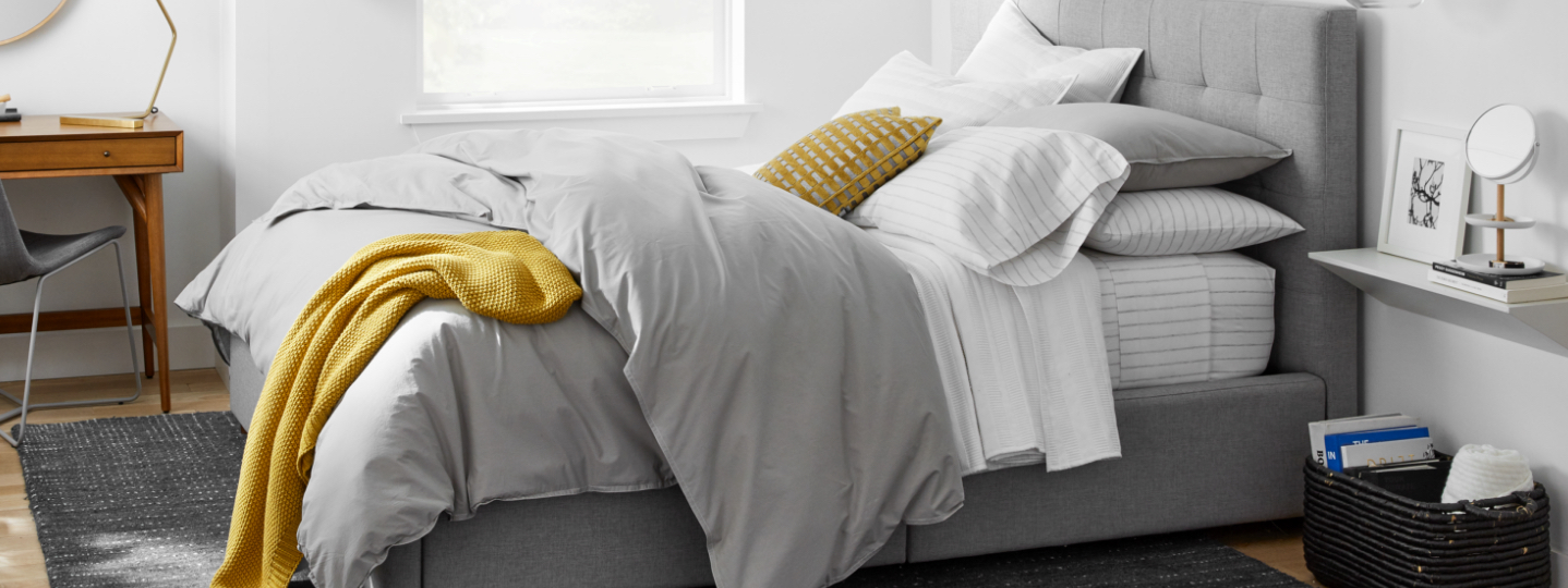 organic washed cotton percale set