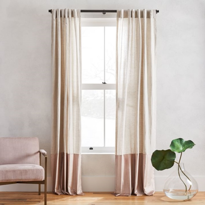 Window Treatment Ideas - Linen Velvet Curtains