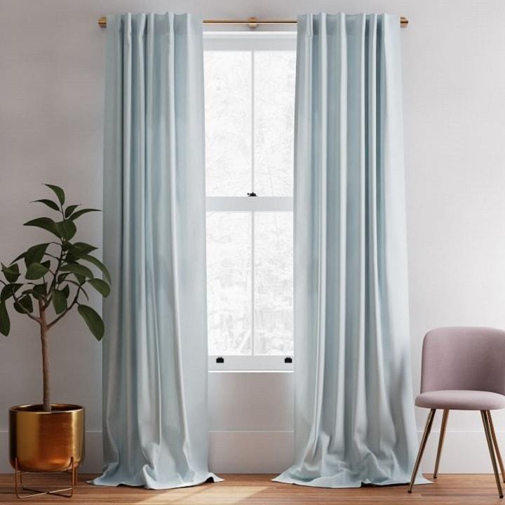 Window Treatment Ideas - Blue Curtains