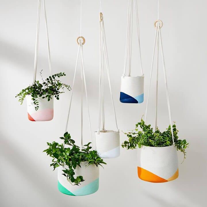 Window Treatment Ideas - Hanging Planters