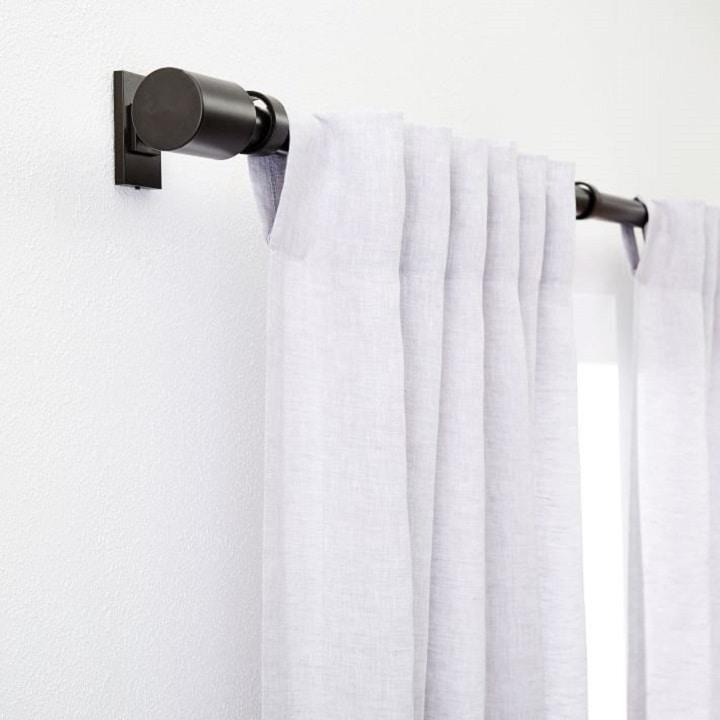 Window Treatment Ideas - Antique Bronze Curtain Rod