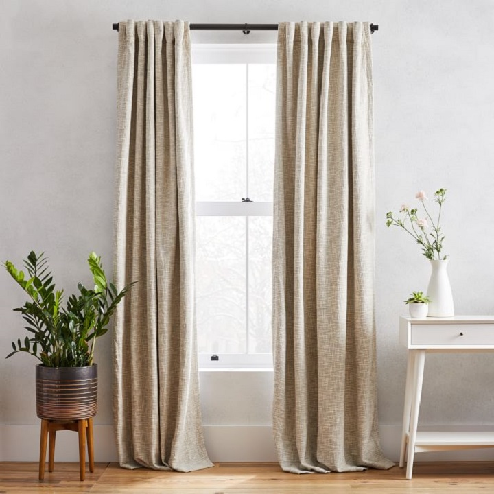 Window Treatment Ideas - Textured Blackout Curtains