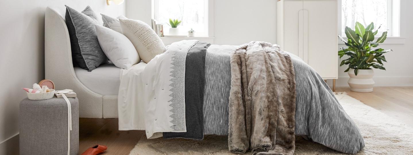 modern pattern in flannel & cotton