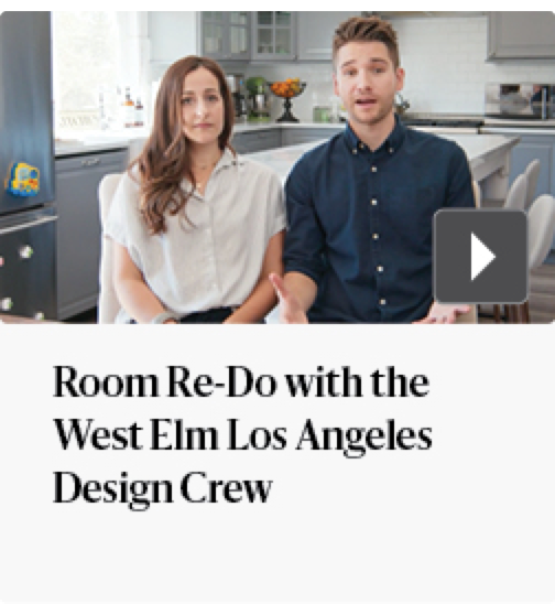 Room re-do with the west elm Los Angeles Design Crew