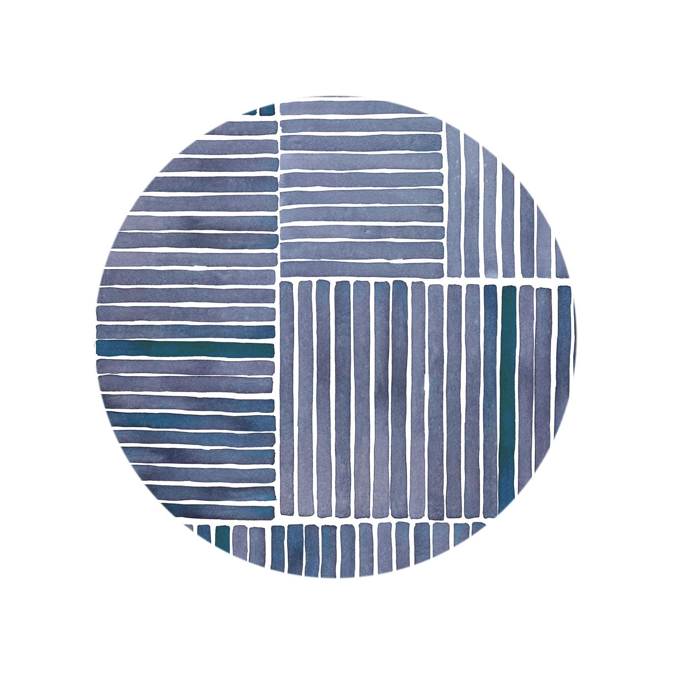 Watercolor Stripe - Midnight