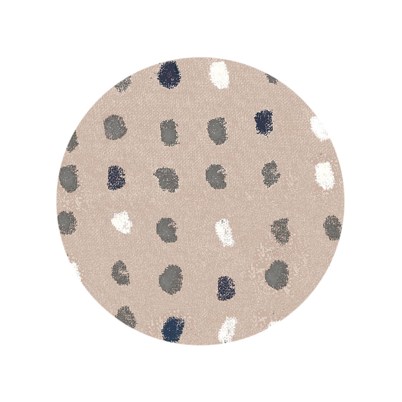 Drawn Dots - Dusty Blush