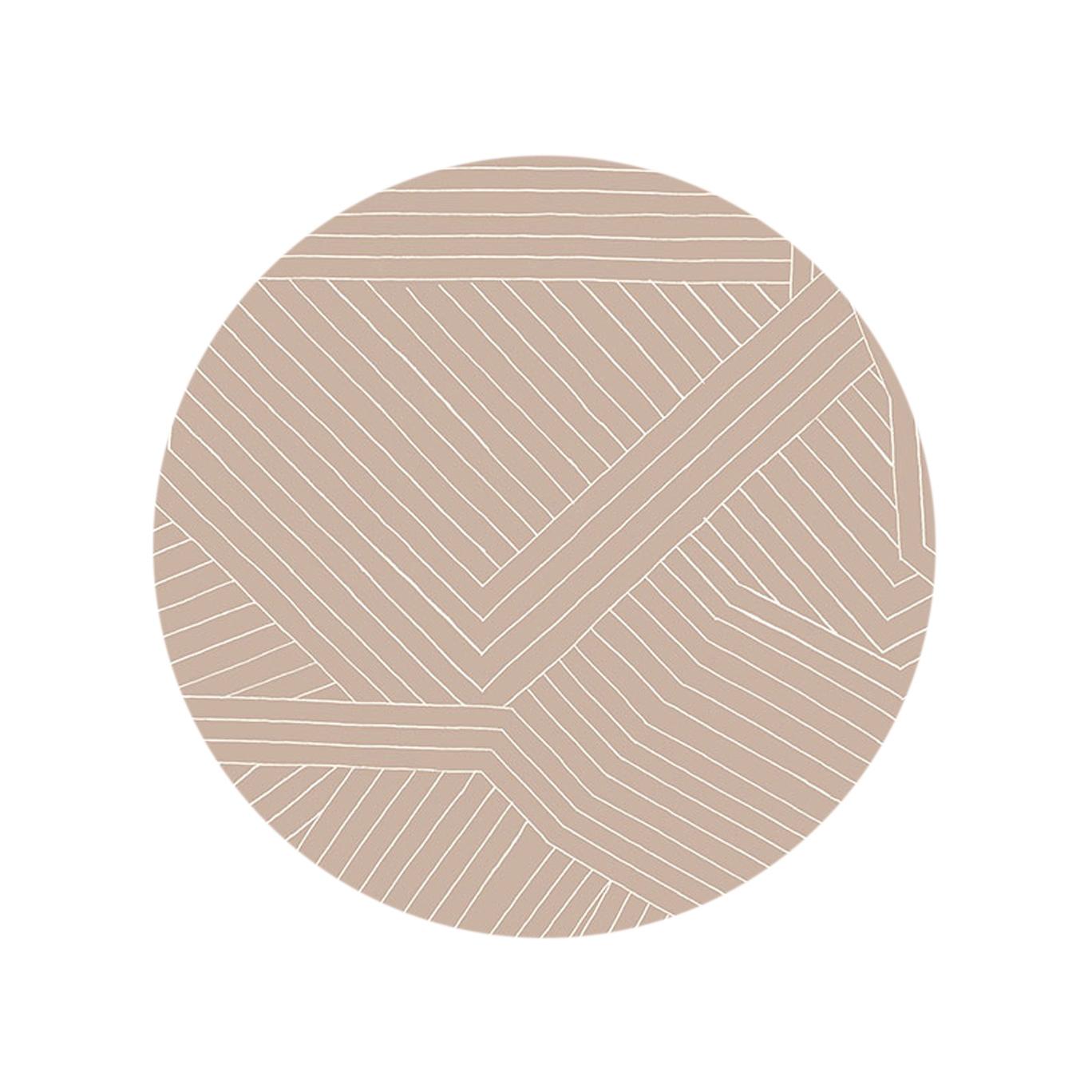 Multidirectional Lines - Pink Stone