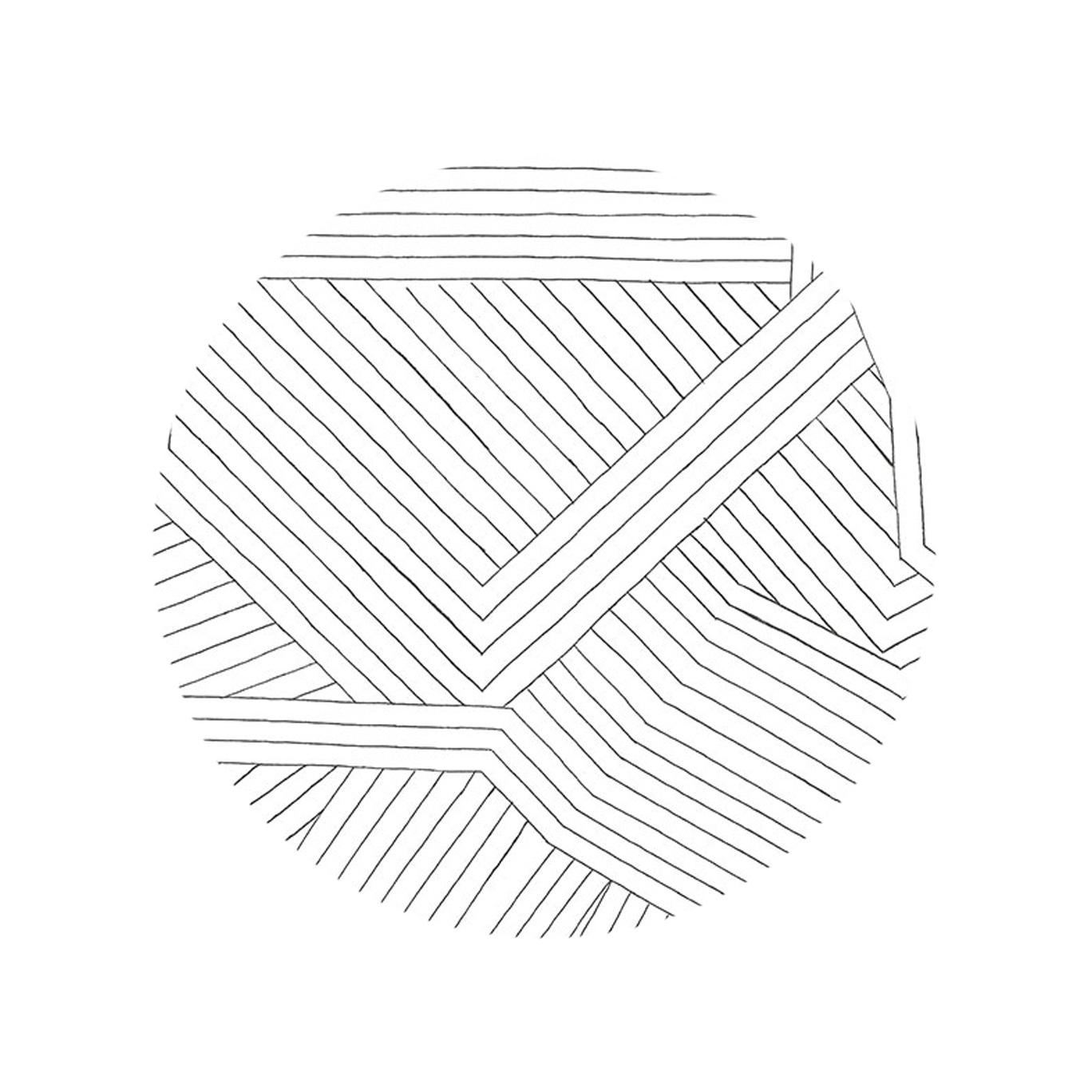 Multidirectional Lines - Stone White