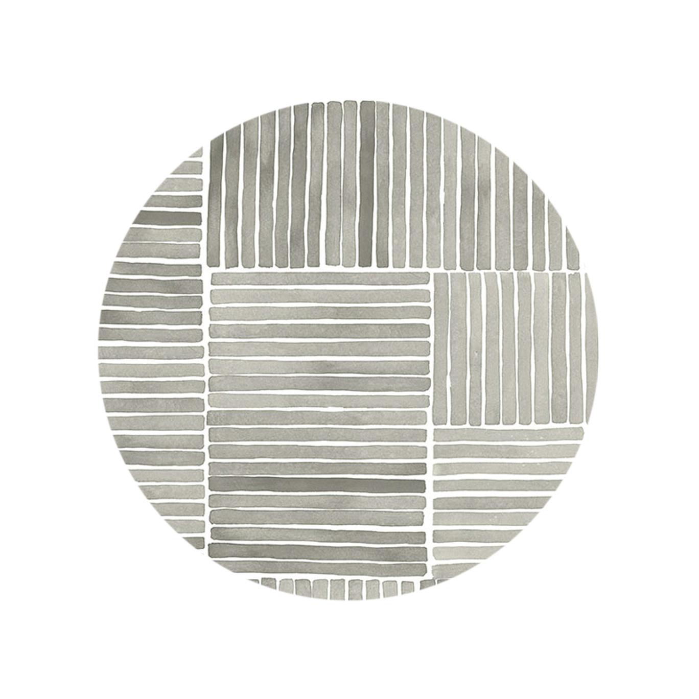 Watercolor Stripe - Frost Gray