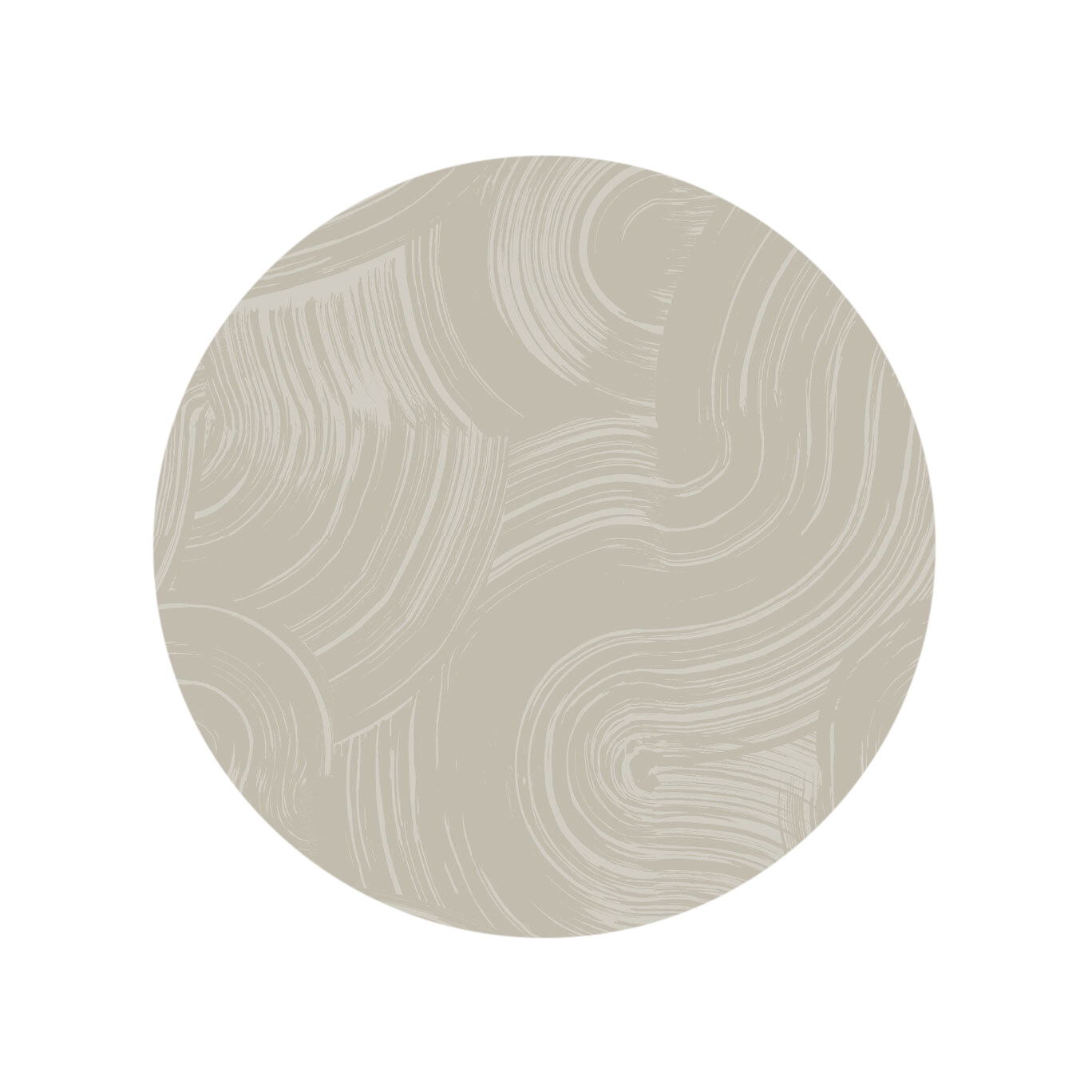 Painted Curves - Taupe