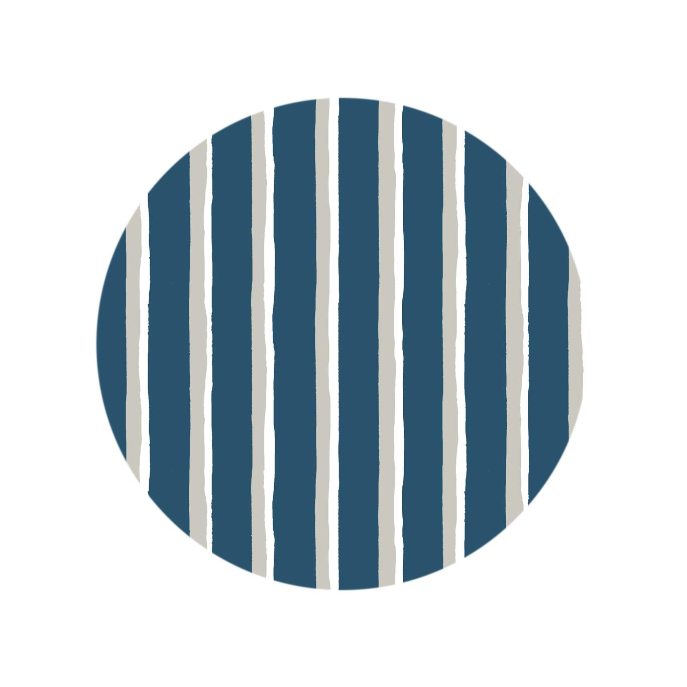 Painted Stripe - Rainstorm Blue