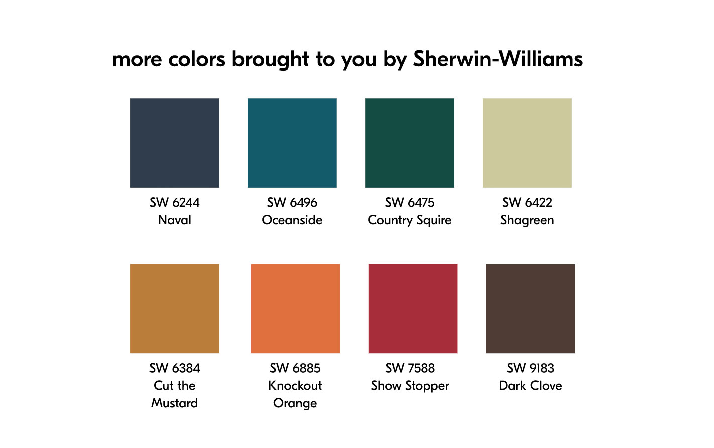 more spring colors brought to you by Sherwin-Williams