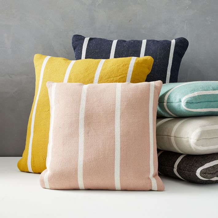 West Elm Stripe Pillow